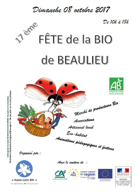 Flyer fête bio beaulieu