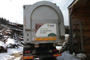 Livraison de bois déchiqueté