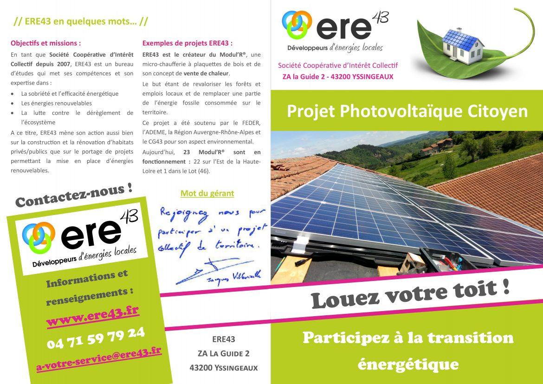 Projet photovoltaique citoyen