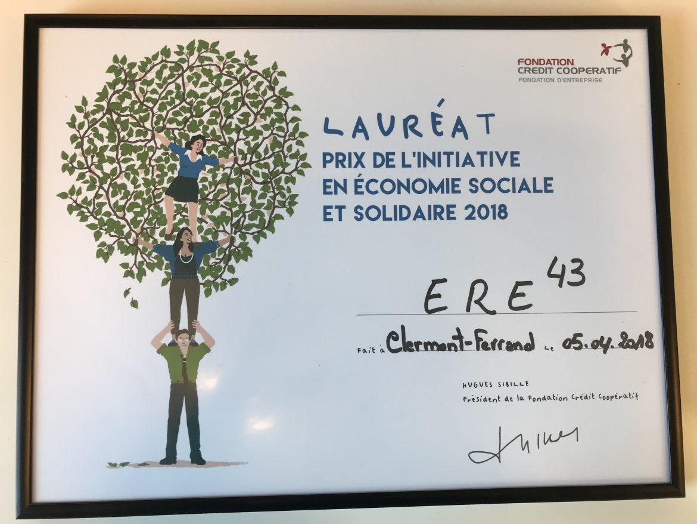 Lauréat Prix Fondation Crédit Coopératif 2018