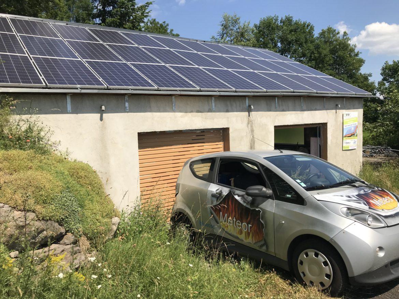 Centrale photovoltaïque au Mazet St Voy